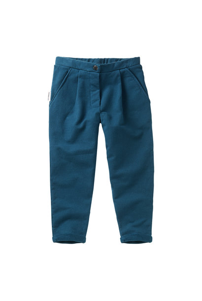 Cropped chino - Teal Blue