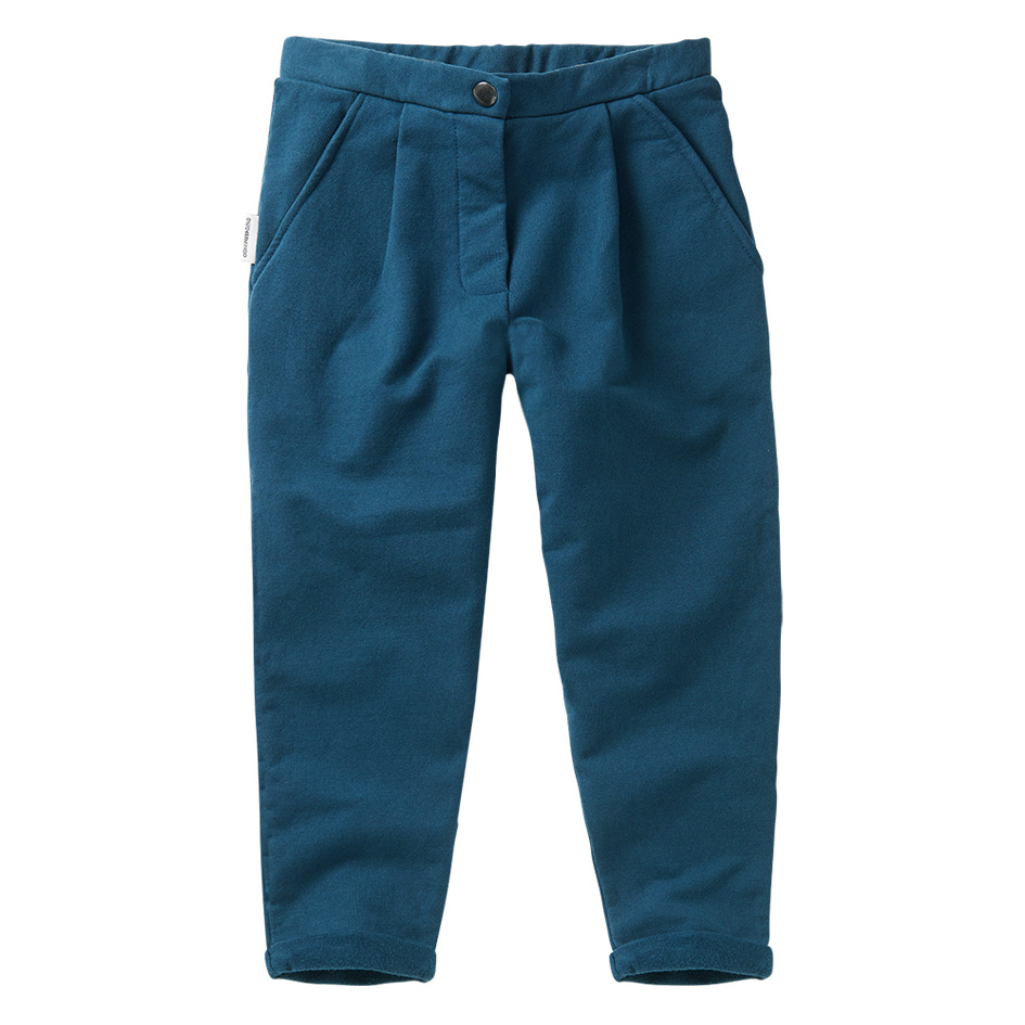 Cropped chino - Teal Blue-1