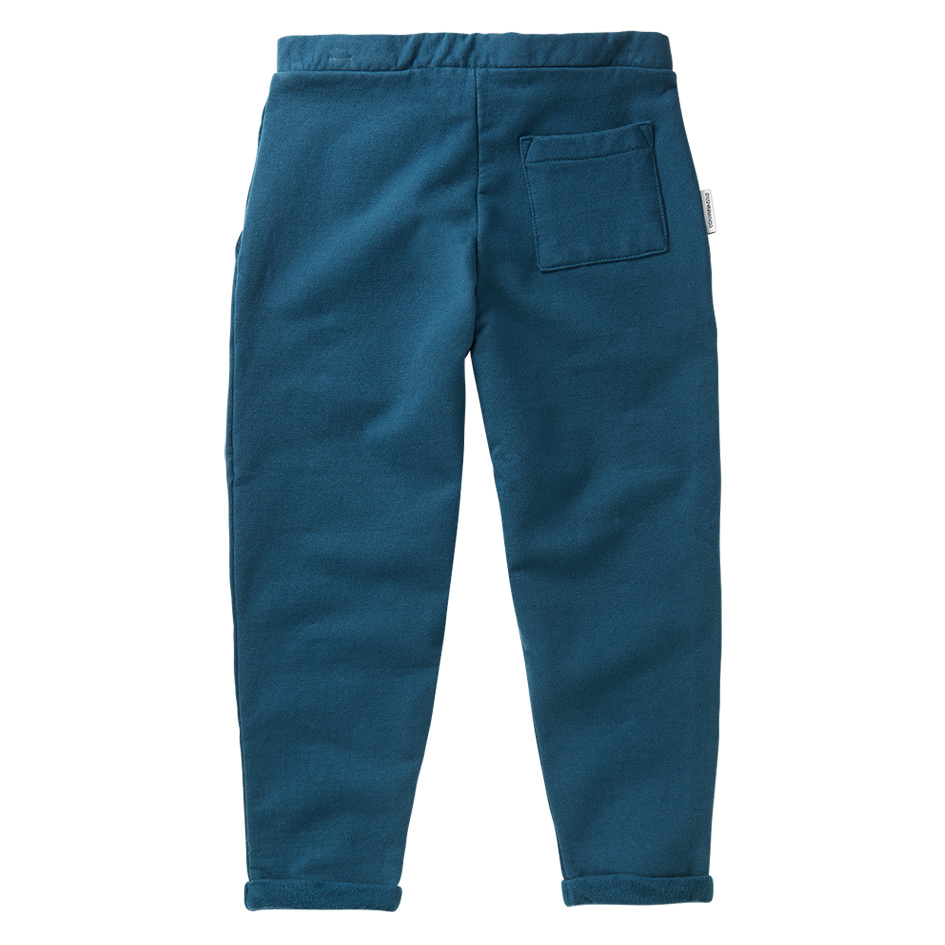 Cropped chino - Teal Blue-3