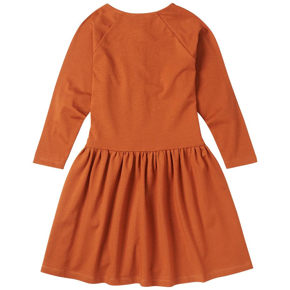 Button dress - Dark Ginger-3