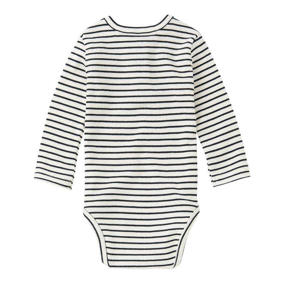 Bodysuit basics - Stripes Black/White-2