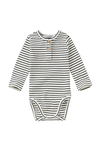 Bodysuit basics - Stripes Black/White