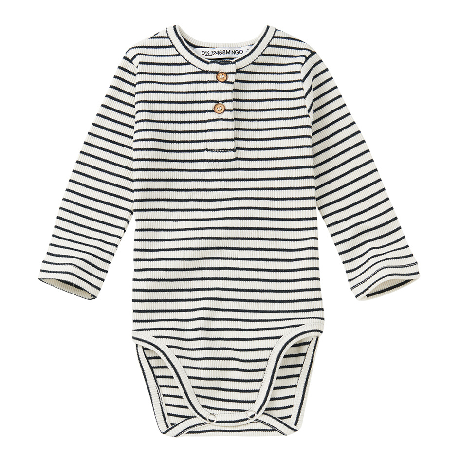 Bodysuit basics - Stripes Black/White-1