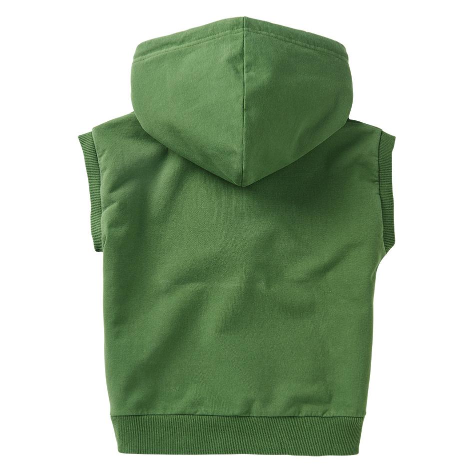 Sleeveless hoodie - Moss Green-3
