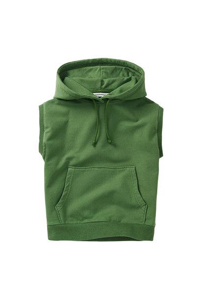 Sleeveless hoodie - Moss Green