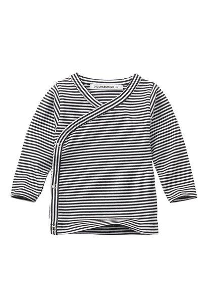 Wrap top - Stripes Black / White
