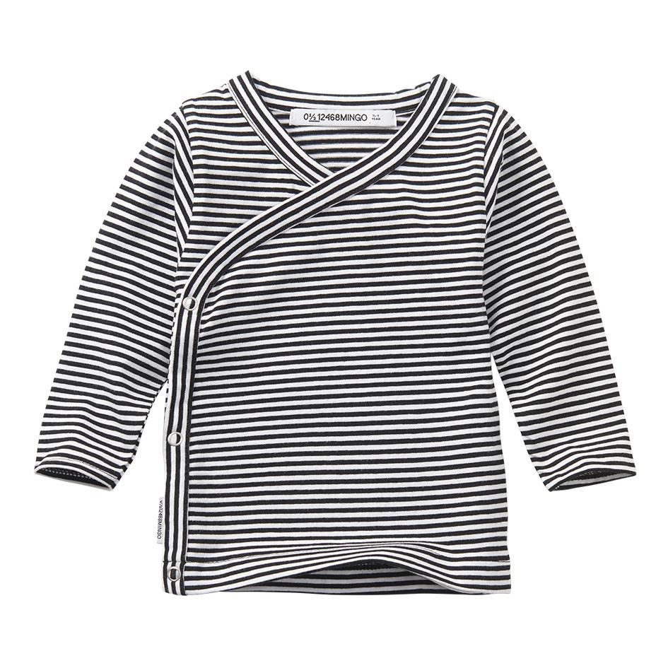 Wrap top - Stripes Black / White-1