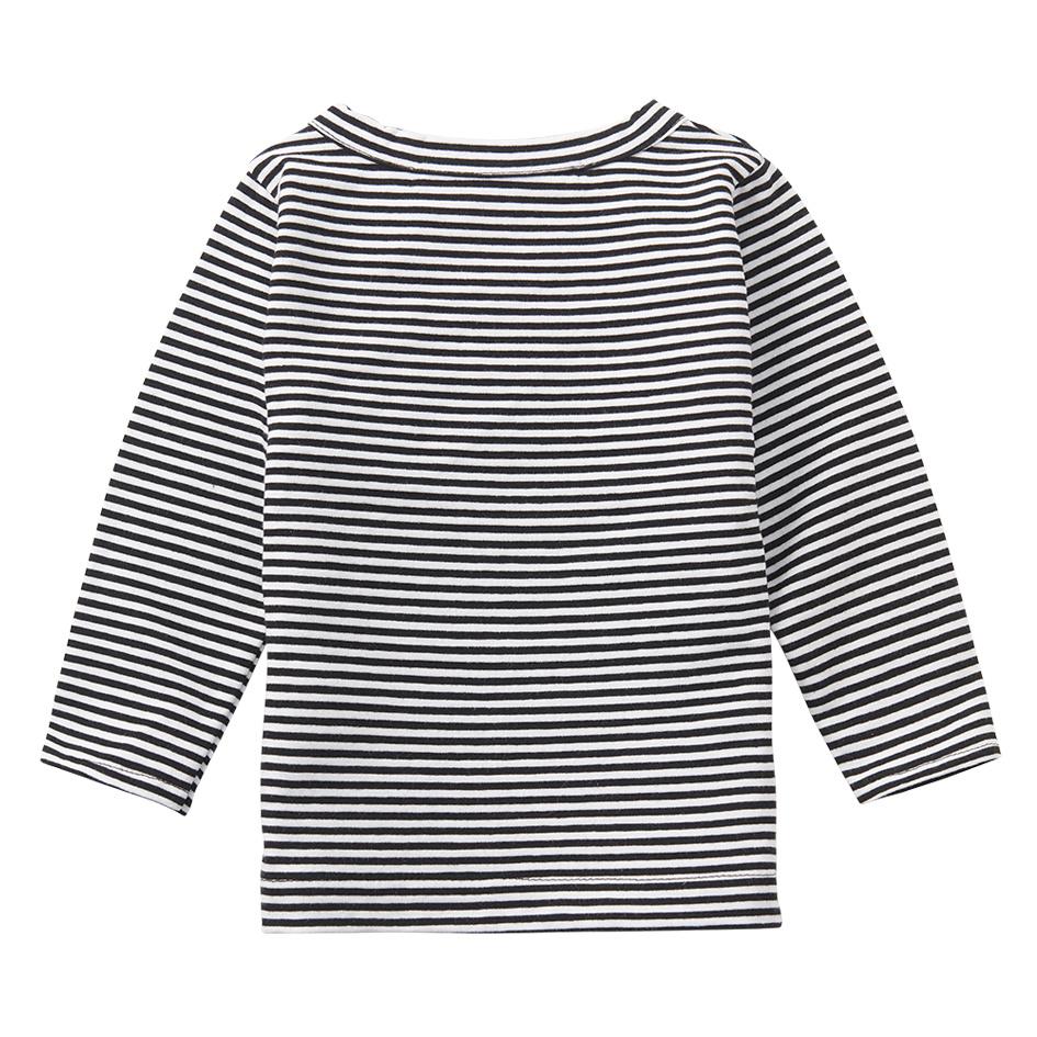 Wrap top - Stripes Black / White-2