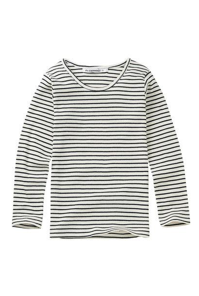 Rib top - Stripes Black / White