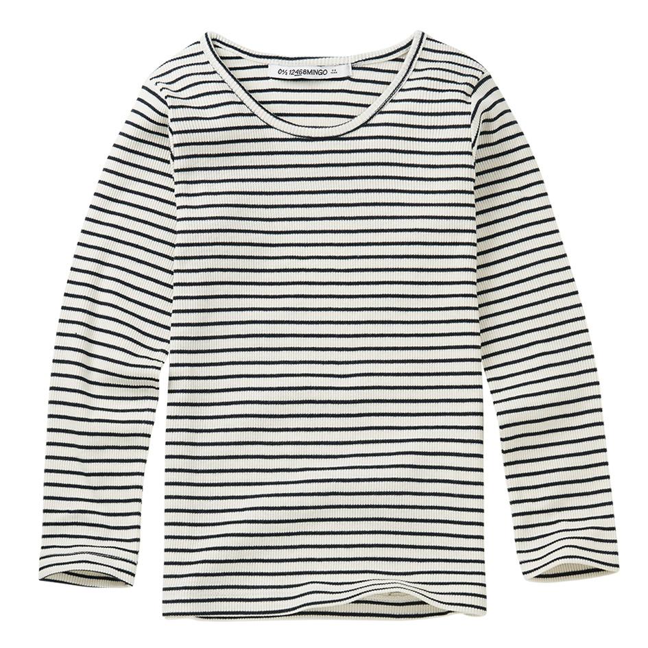 Rib top - Stripes Black / White-1