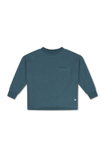 Sweat tee - Dark Dusty Blue