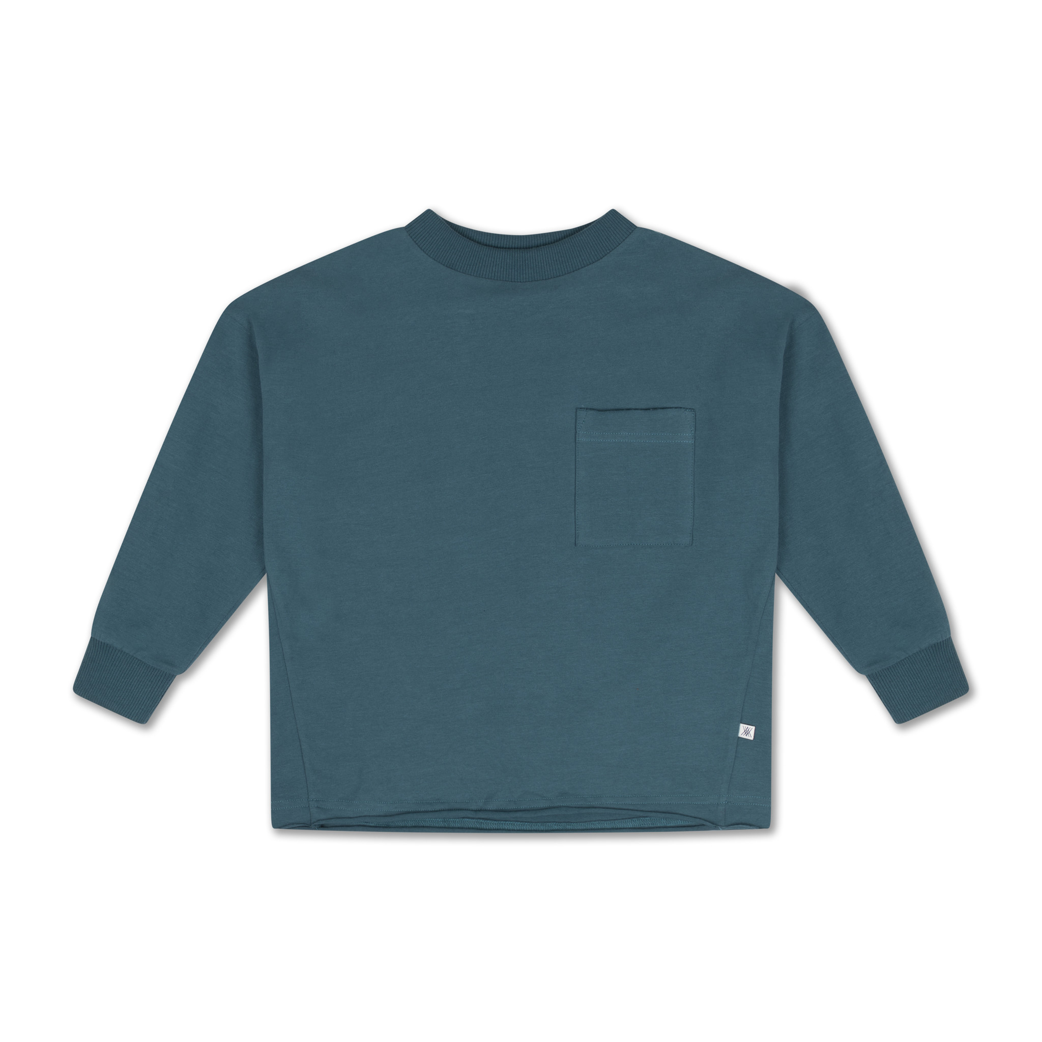 Sweat tee - Dark Dusty Blue-1