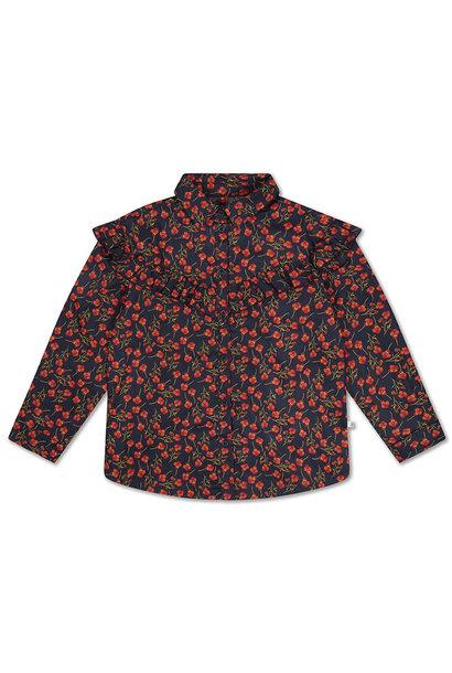 Moony blouse - Liberty Marine Poppy