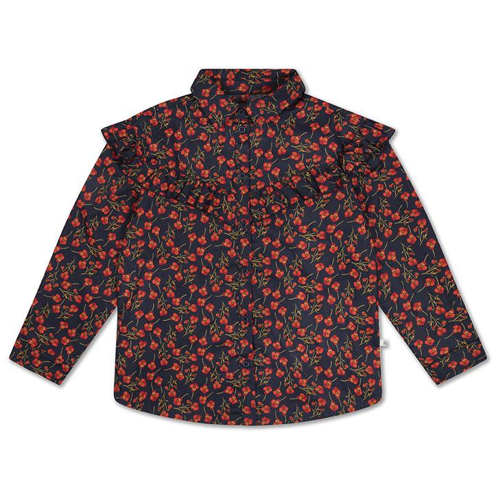 Moony blouse - Liberty Marine Poppy-1