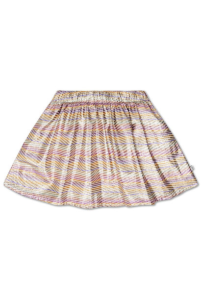 Short skirt - Zig Zag Sparkle Rainbow
