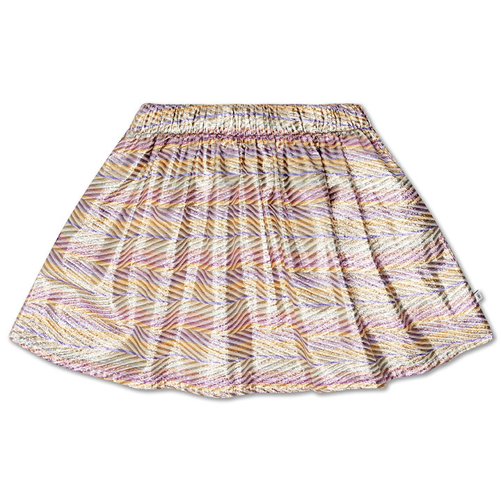 Short skirt - Zig Zag Sparkle Rainbow-1
