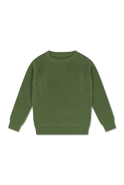 Knit raglan sweater - Hunter Green