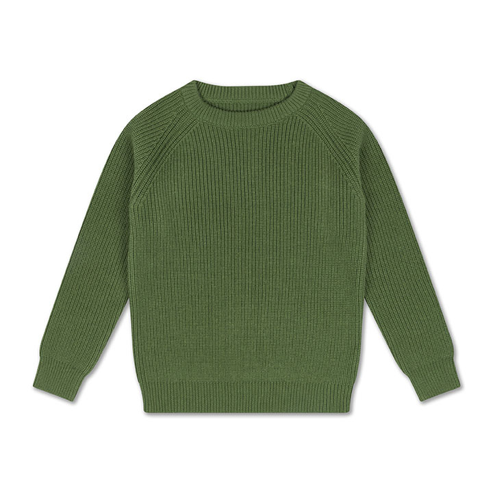 Knit raglan sweater - Hunter Green-1