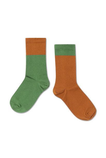 Socks - Hunter Green / Autumn