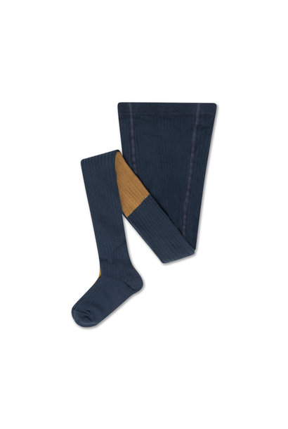 Tights - Navy Blue / Golden