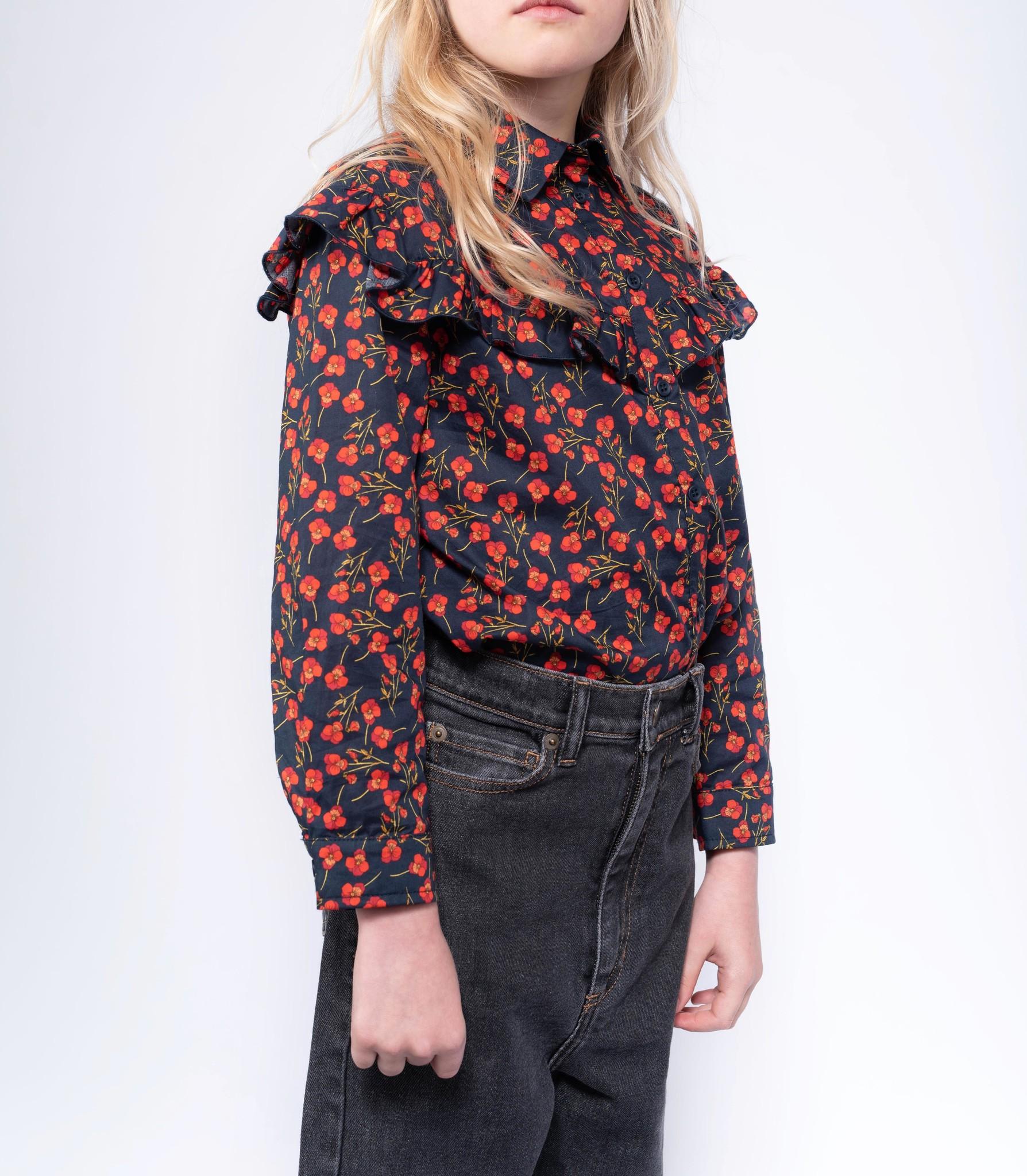 Moony blouse - Liberty Marine Poppy-2