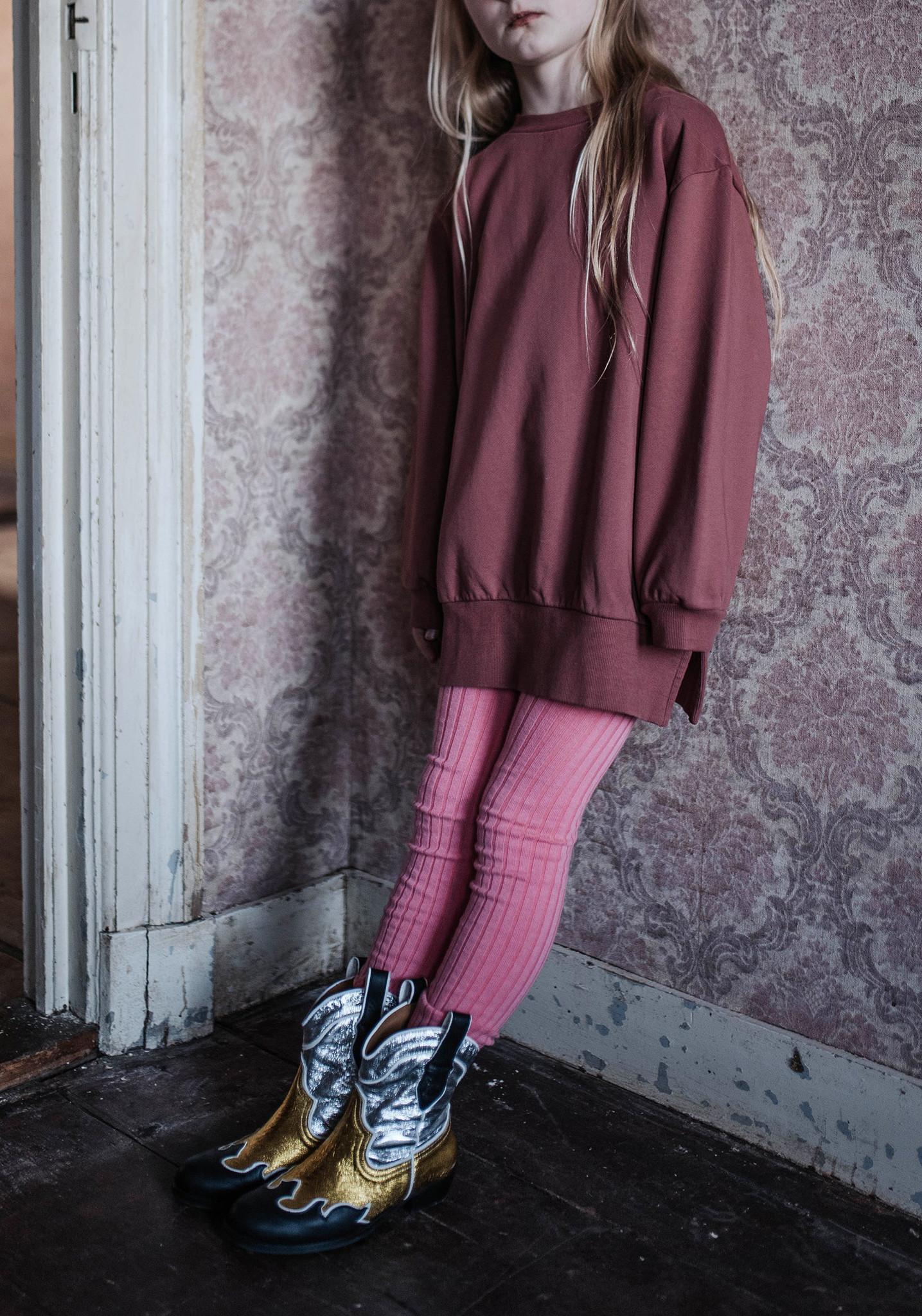 Sweat dress - Washed Brick-2