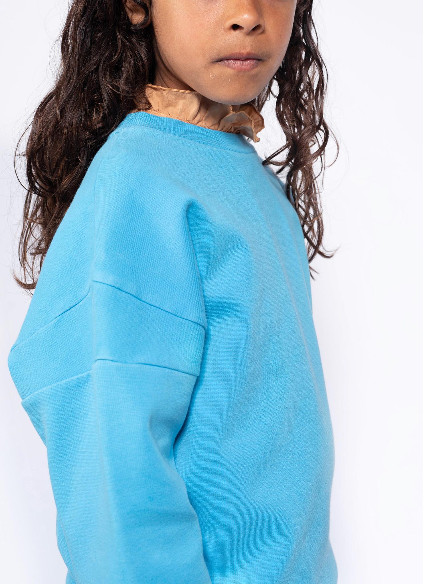 Crewneck sweater - Bright Sky Blue-2