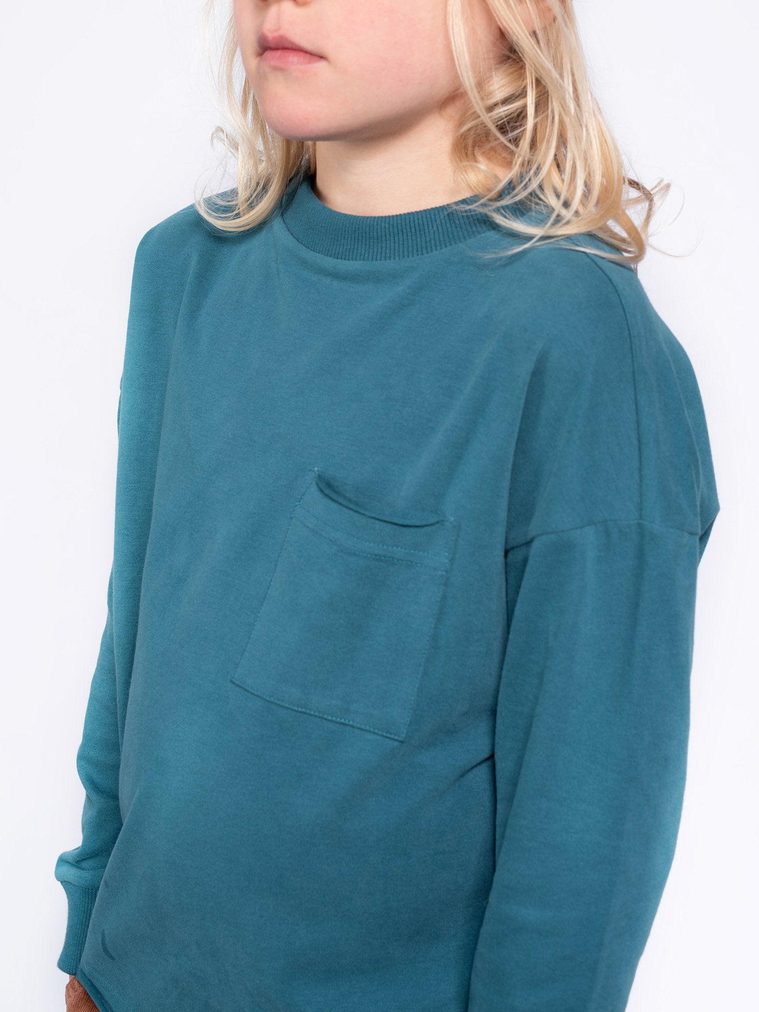 Sweat tee - Dark Dusty Blue-2
