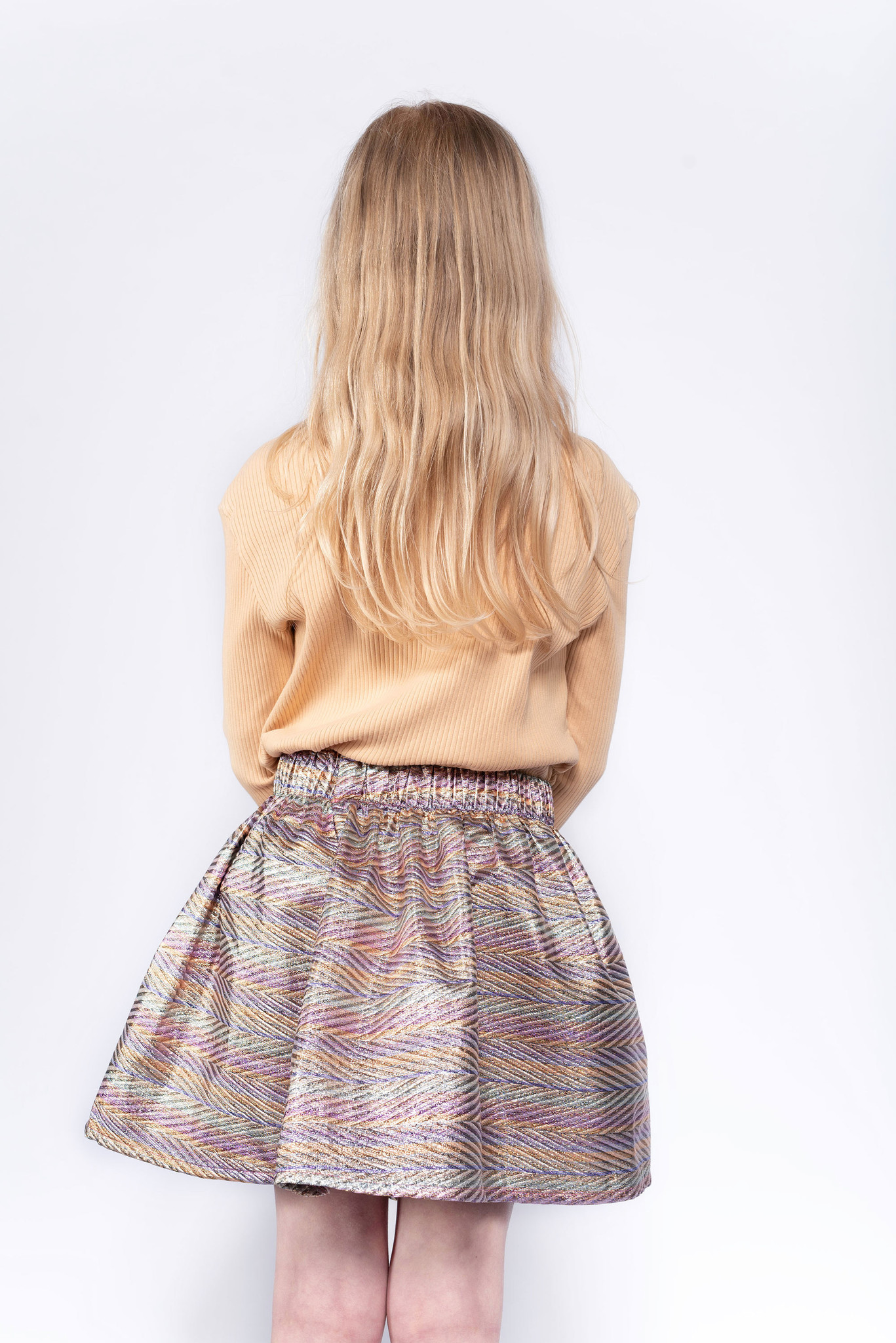 Short skirt - Zig Zag Sparkle Rainbow-3