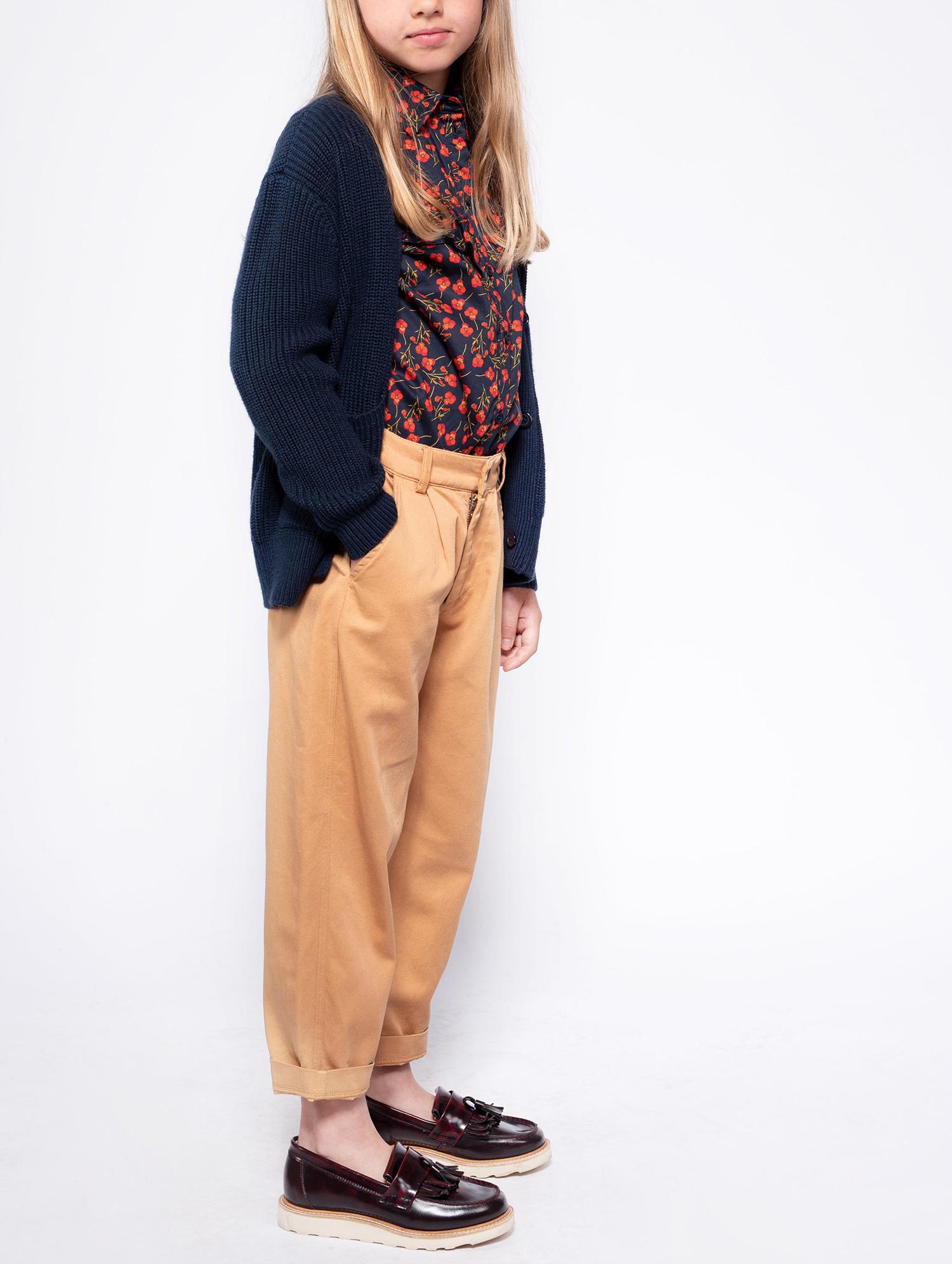 Knit grandpa cardigan - Navy Blue-3