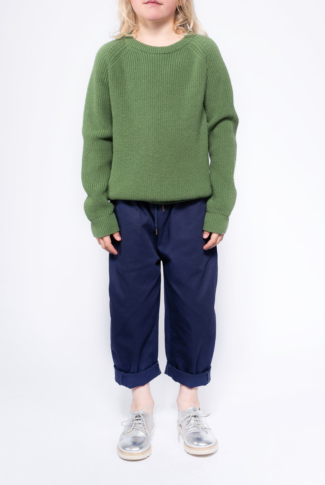 Knit raglan sweater - Hunter Green-2