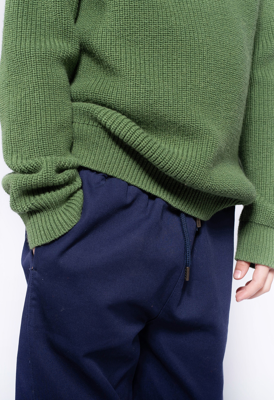 Knit raglan sweater - Hunter Green-3