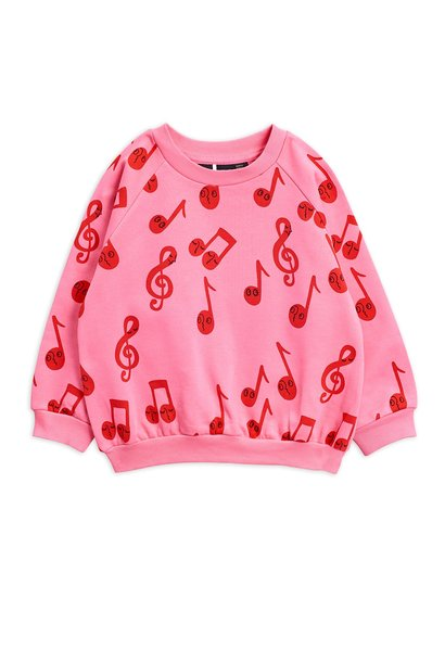 Notes AOP sweatshirt - Pink