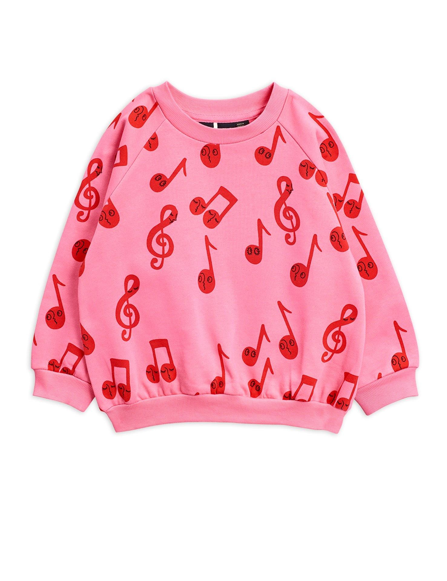 Notes AOP sweatshirt - Pink-1