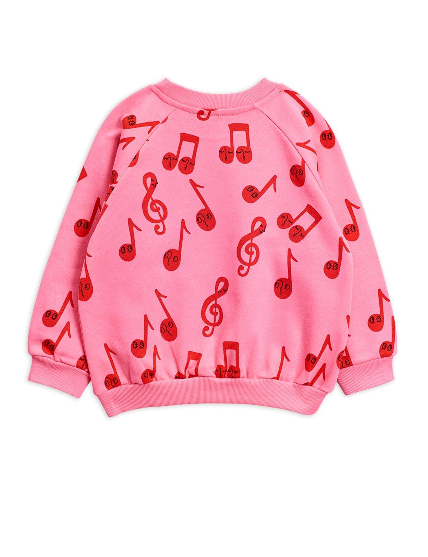 Notes AOP sweatshirt - Pink-3