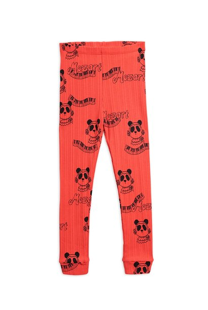 Mozart AOP leggings - Red