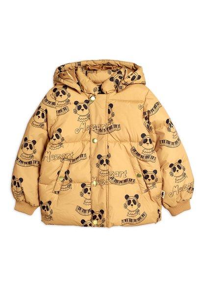 Mozart panda puffer jacket - Beige