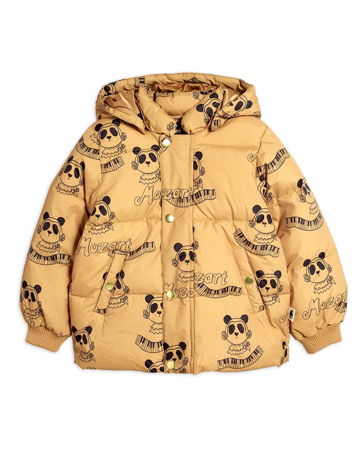 Mozart panda puffer jacket - Beige-1