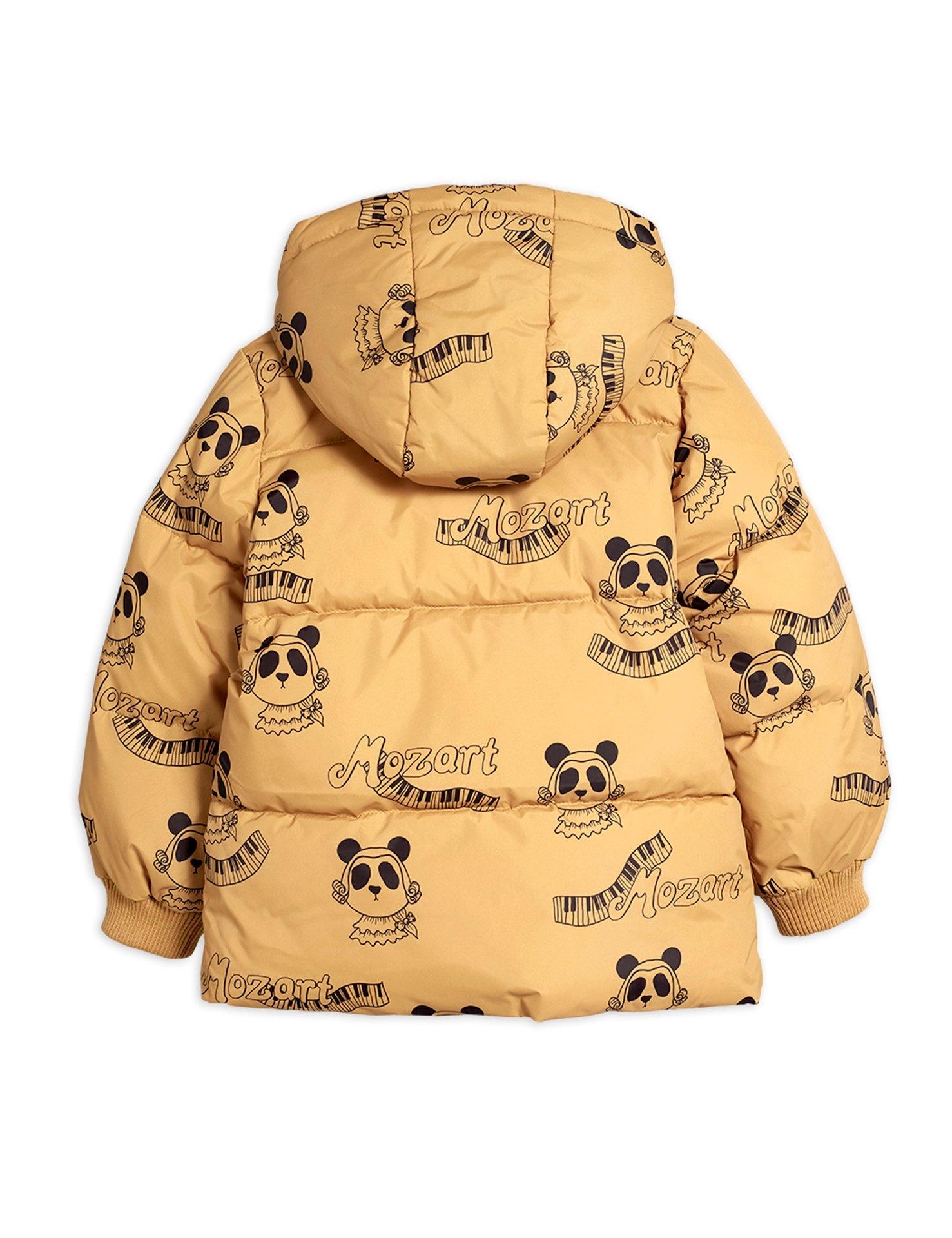 Mozart panda puffer jacket - Beige-2