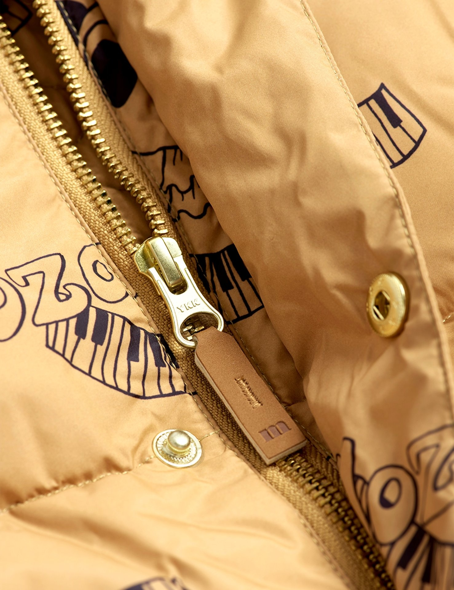 Mozart panda puffer jacket - Beige-3