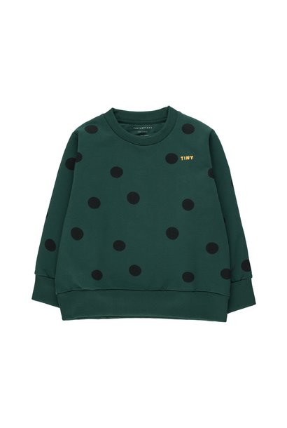 Big dots sweatshirt - Dark Green / Black
