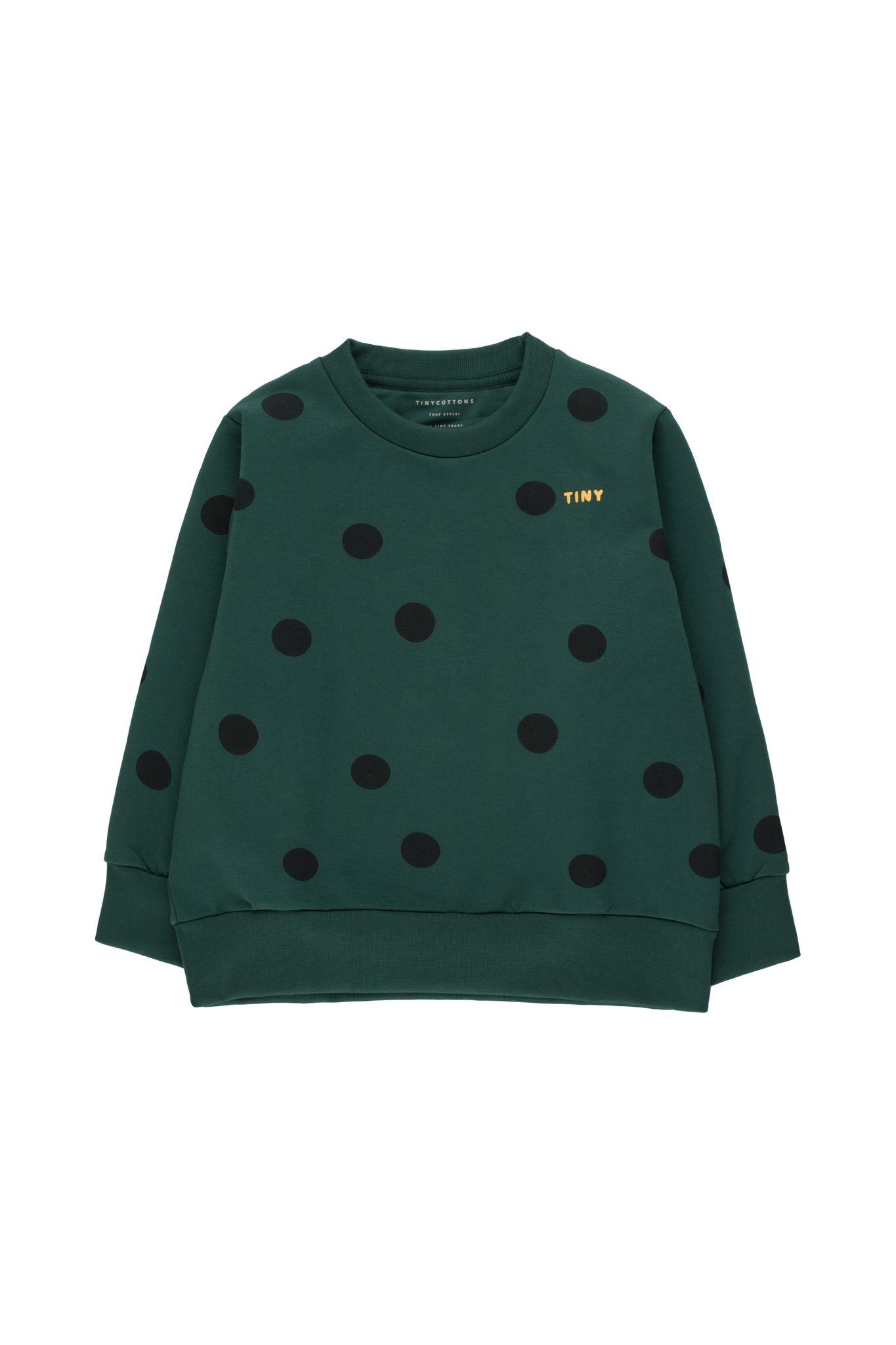 Big dots sweatshirt - Dark Green / Black-1