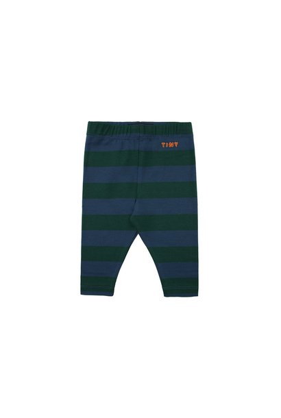 Tiny Stripes pant - Dark Green / Light Navy