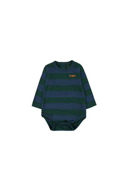 Tiny Stripes body - Dark Green / Light Navy