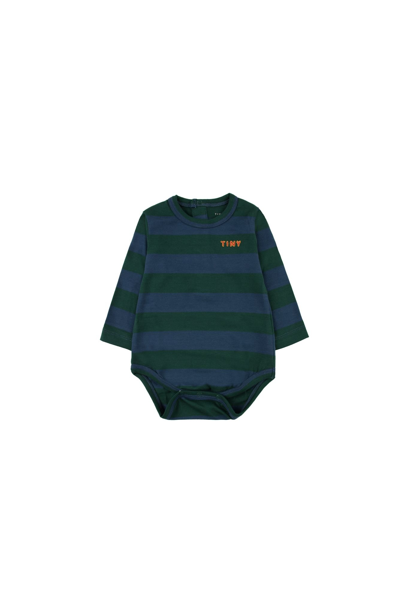 Tiny Stripes body - Dark Green / Light Navy-1