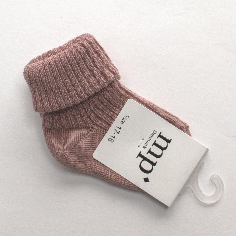 Baby sokken - Oud Roze-1