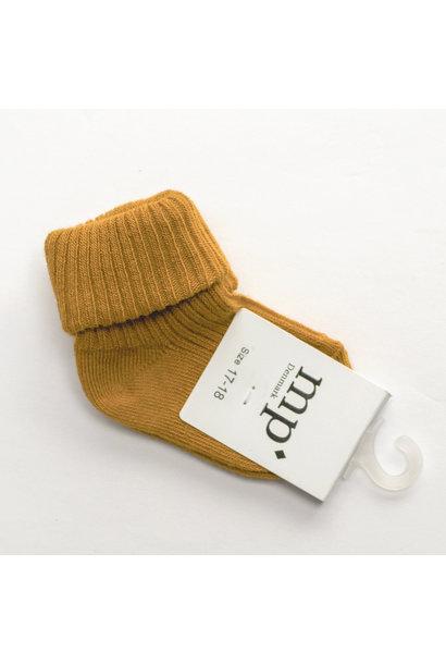 Baby socks - Ochre