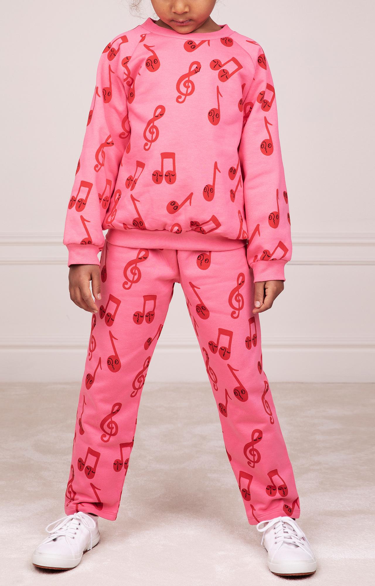 Notes AOP sweatshirt - Pink-2