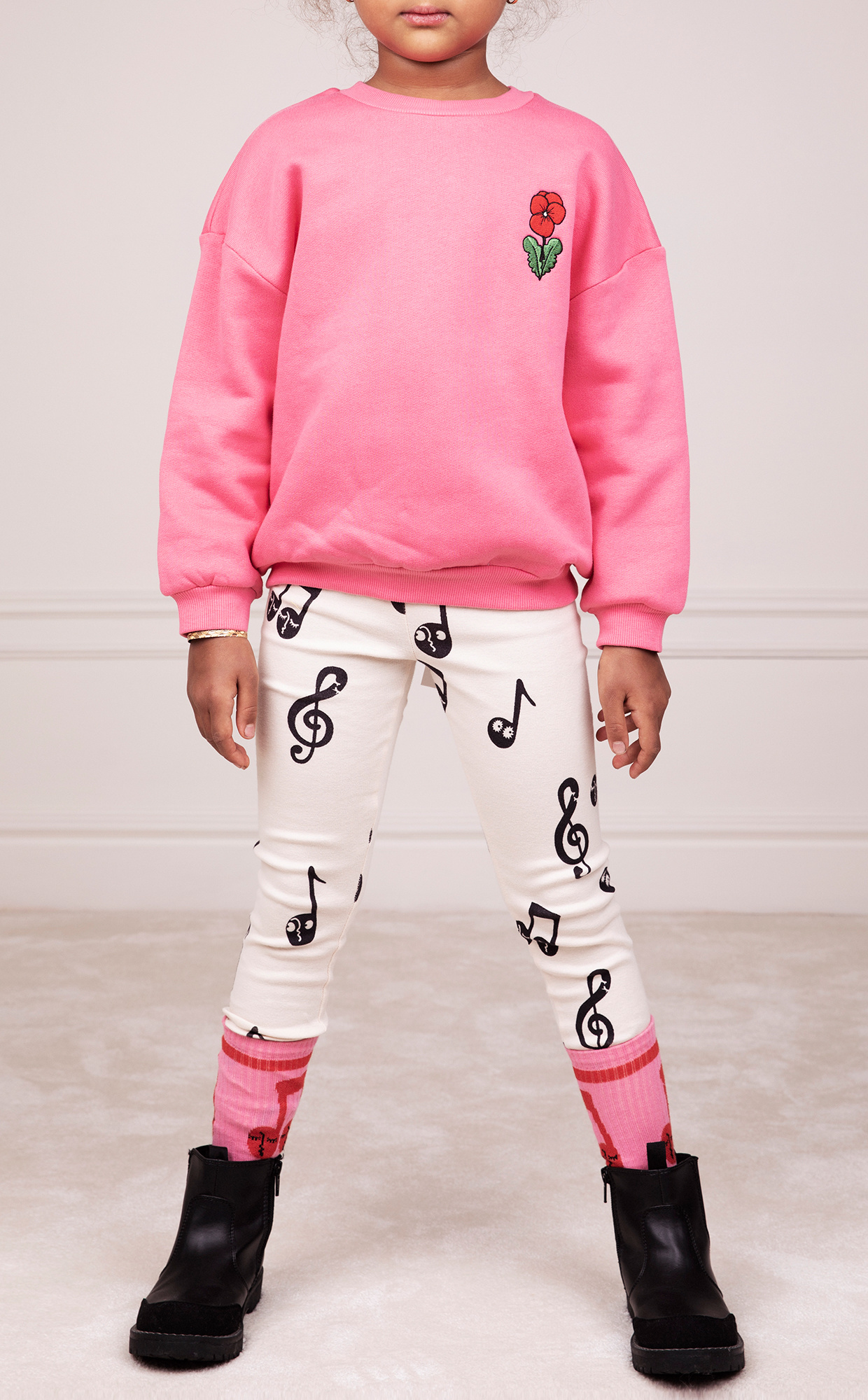 Viola emb sweatshirt - Pink-2