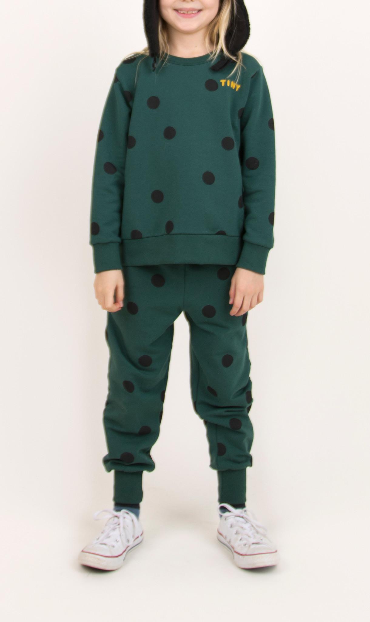 Big dots sweatshirt - Dark Green / Black-2
